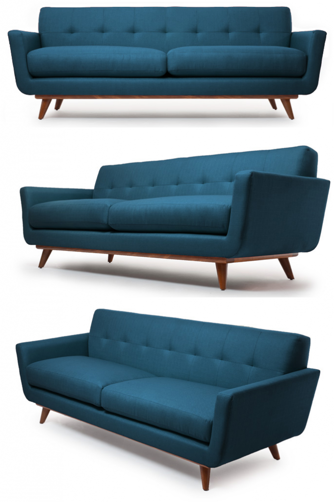 my style republic mid century modern sofa nixon sofa. Black Bedroom Furniture Sets. Home Design Ideas