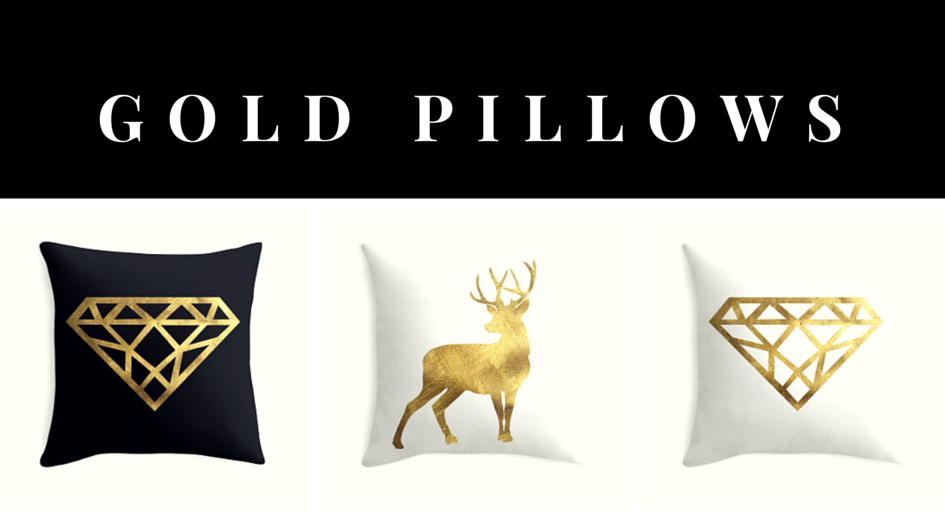 My Style Republic Gold Pillows - banner