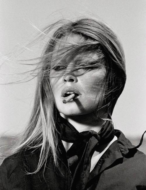 Brigitte Bardot Smoking in Spain by Terry O'Neil 2