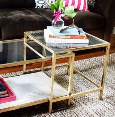 Ikea Hack Gold Coffee Tables