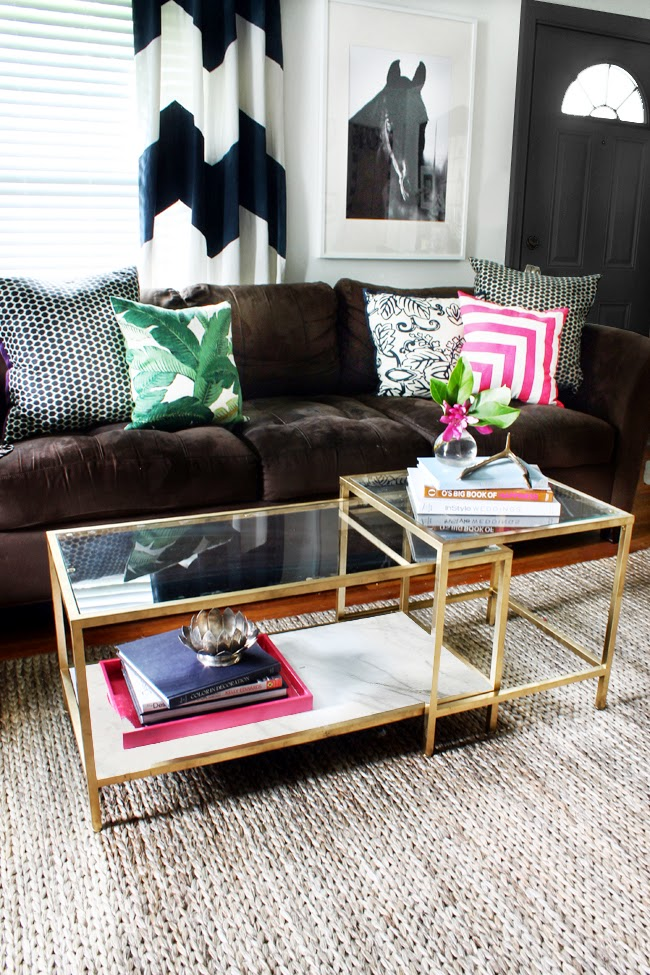 the-hunted interior-gold-coffee-table