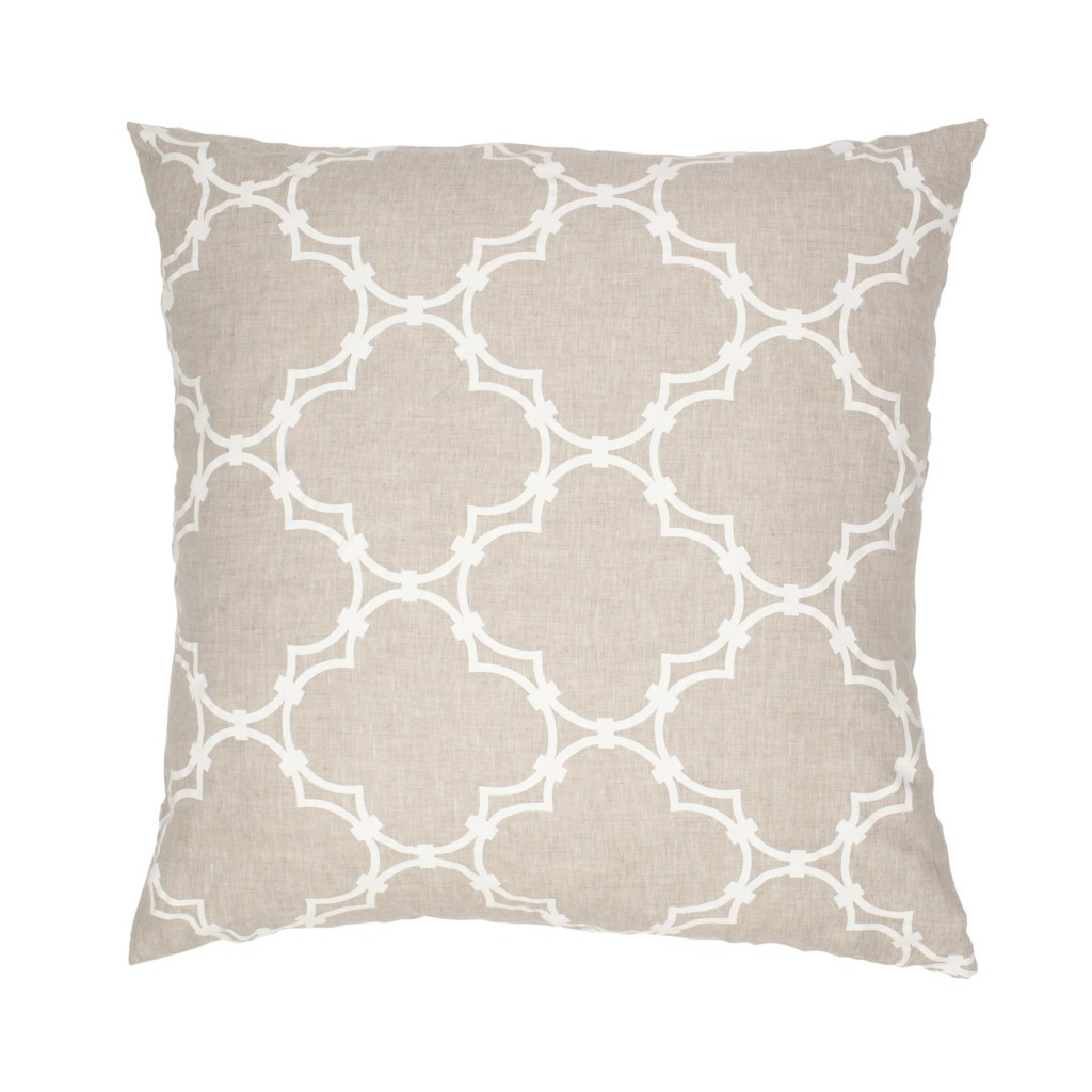 my style republic coveted quatrefoil pillow cover in linen