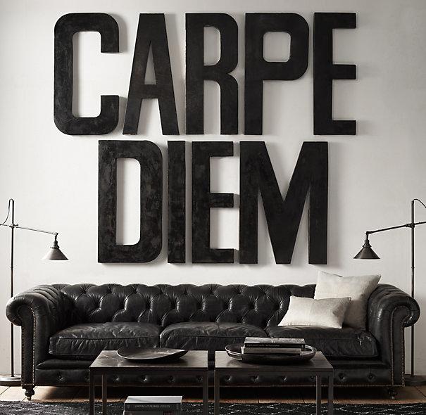 carpe diem - large artwork letters on wall