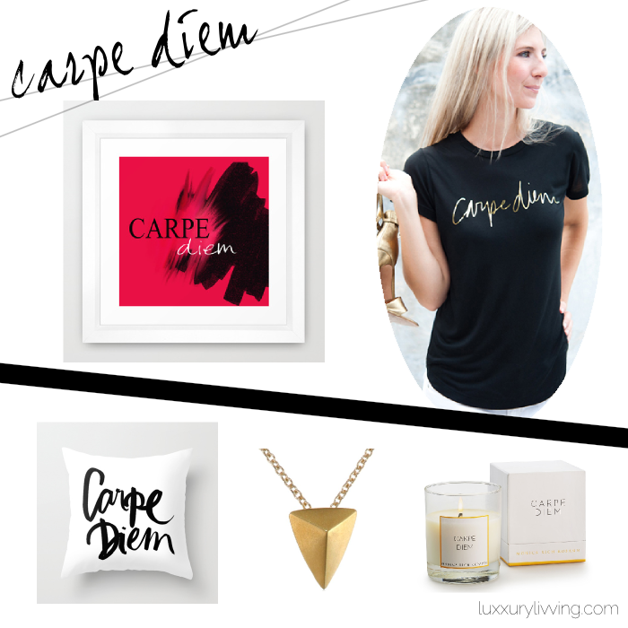 luxxury livving - carpe diem curated products