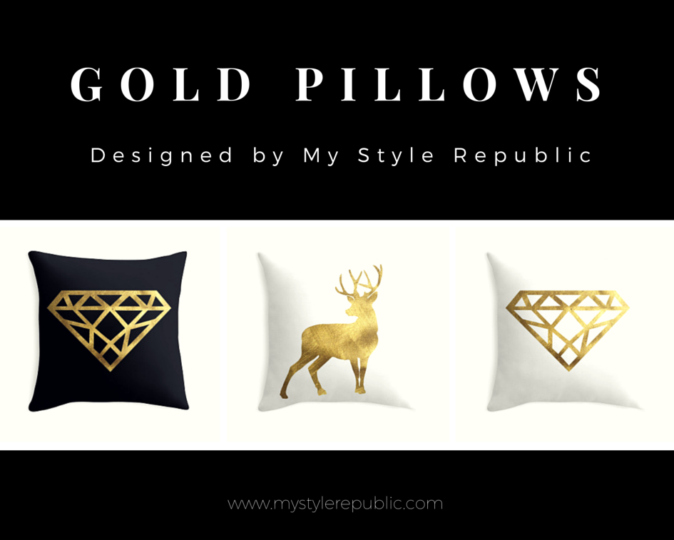 My Style Republic Gold Pillows