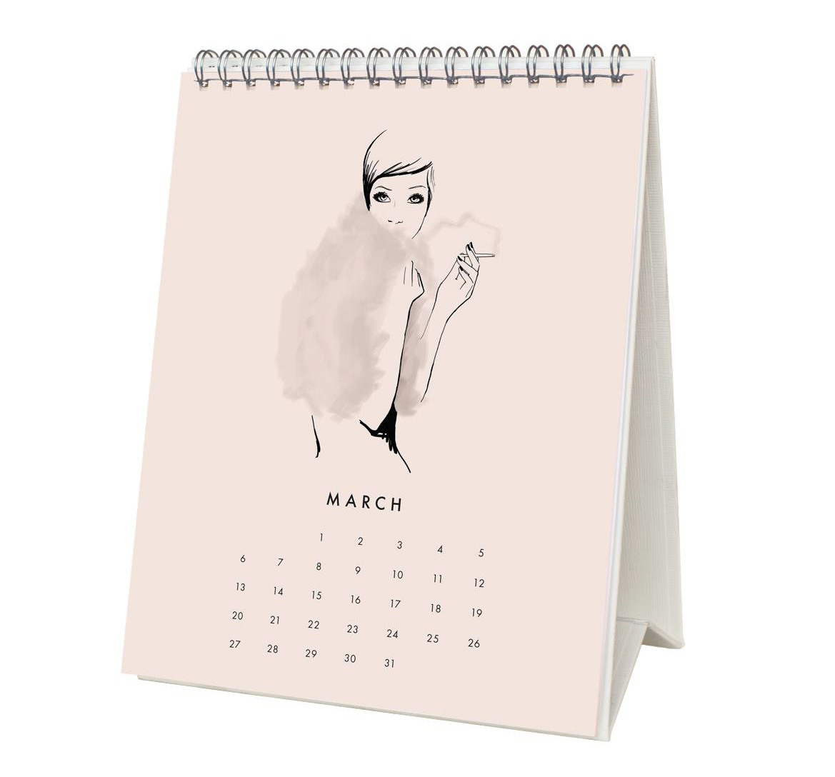 Garance Dore 2016 Desk Calendar - March