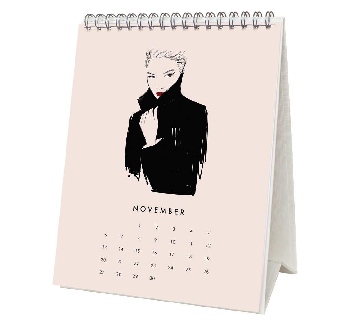 Garance Dore 2016 Desk Calendar - November