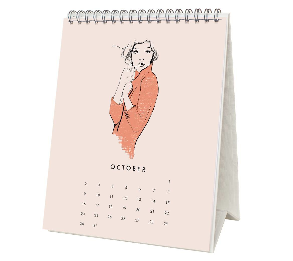 Garance Dore 2016 Desk Calendar - October